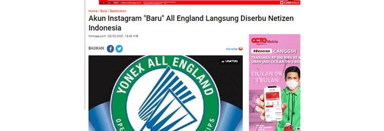 Kekuatan Netizen Indonesia, Studi Kasus All England 2021